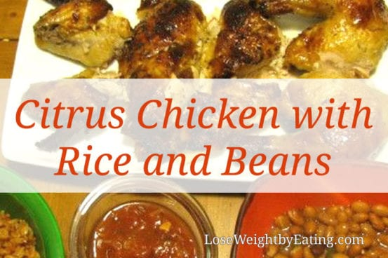 Citrus Chicken with Rice and Beans
