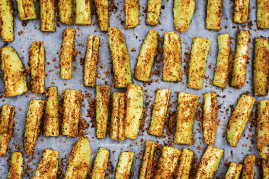 Garlic Parmesan Oven Roasted Zucchini Recipe