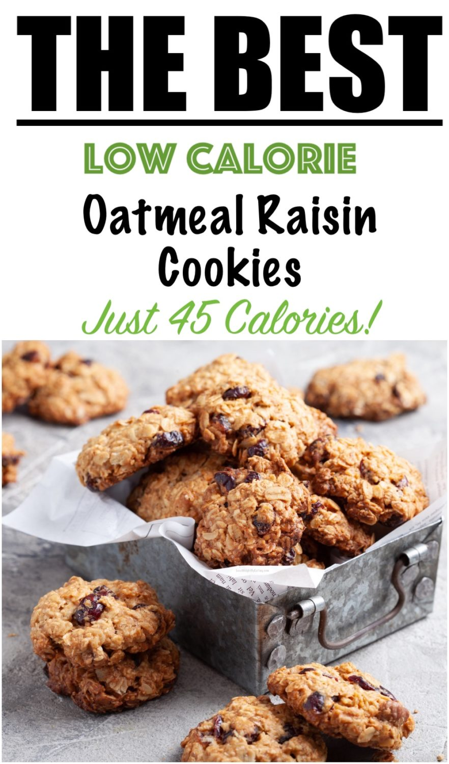 Healthy Recipe for Oatmeal Raisin Cookies